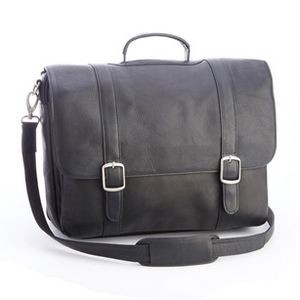 "Colombian Leather 15"" Laptop Satchel Brief"