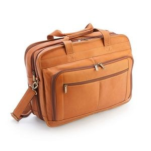 "Colombian Leather Expandable 15"" Laptop Briefcase"