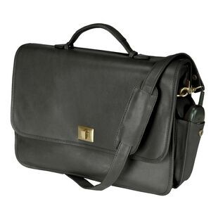 "Leather Executive Briefcase (16""x11 1/2""x4"")"